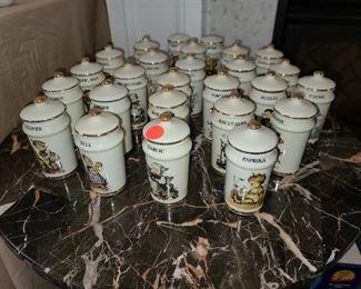 Hummel Spice Jar Set (COMPLETE)