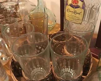 Bar Glasses and trays