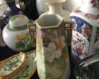 Nippon Vase.  Look at the other pieces surrounding this beautiful vase