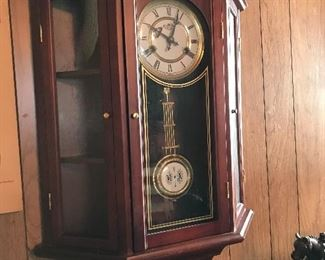 Curio Cabinet Clock with key