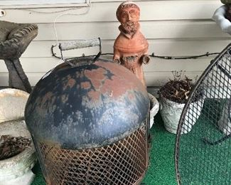 Patio Fire Pit...all kinds of pots and statues
