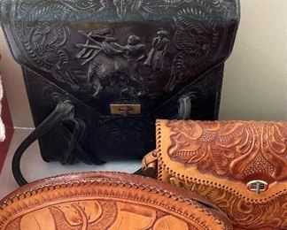 Beautiful leather purses