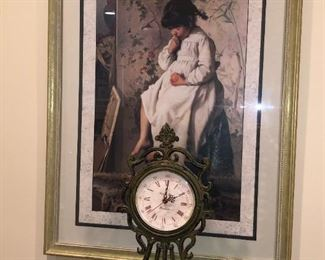 Clock and picture