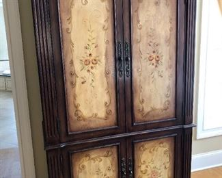 Painted Media Armoire