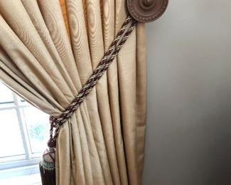 close up of drapes
