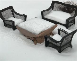 Outdoor furniture now defrosted : )