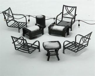 More outdoor furniture now defrosted