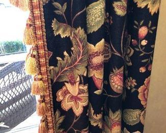 Living room drapes closeup