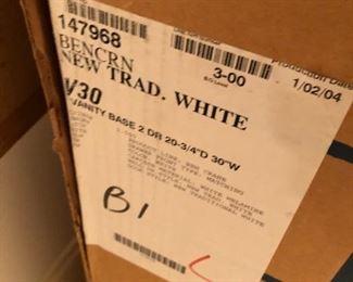 """White 30"""" vanity"""