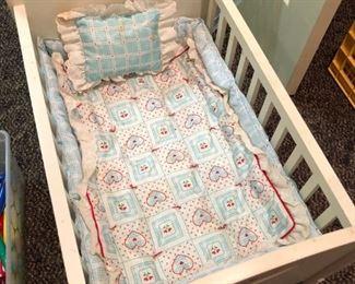 American Girl Bitty Baby Crib with bedding