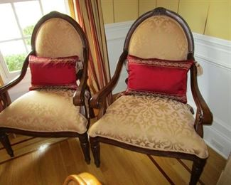 pair of matching bergere chairs