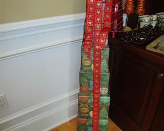 Tower of Christmas boxes - decor