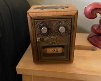 ANTIQUE BANK WITH COMBINATION