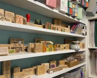 LARGE SELECTION OF SCRAPBOOKING AND STAMPING SUPPLIES