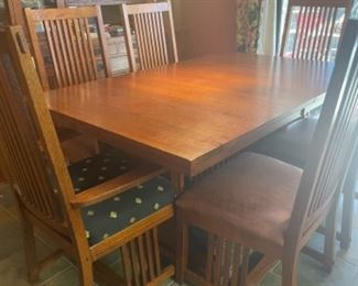 ADDITIONAL PHOTOS OF MISSION OAK TABLE AND CHAIRS