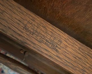 DATE MARKED ON SERVING CART BY PAALMAN COMPANY 1918