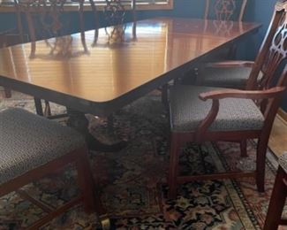 BEAUTIFUL MAHOGANY DINING TABLE AND 8 CHAIRS.  GREAT CONDITION