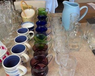 LOTS OF GLASSWARE AND CERAMICS