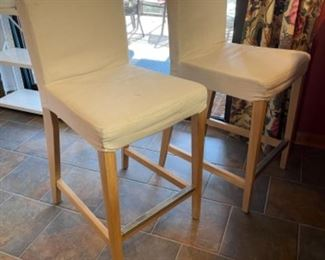 IKEA BAR CHAIRS  3 AVAILABLE, REMOVABLE AND WASHABLE COVERS