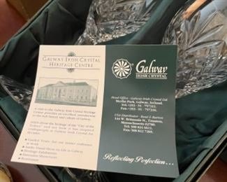 GALWAY CRYSTAL GLASSES NEW IN BOX