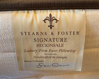 STEARNS AND FOSTER QUEEN SIZED MATTRESS AND MOVING FRAME