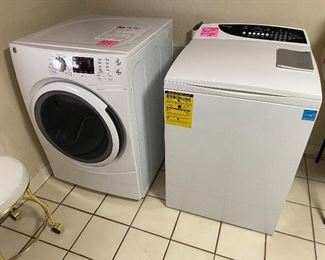 Less than 2 years old washer and dryer