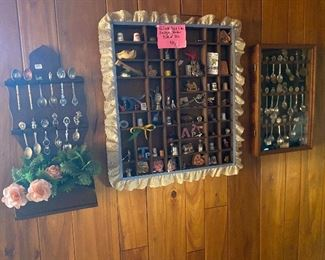 Shadow boxes and collector spoons