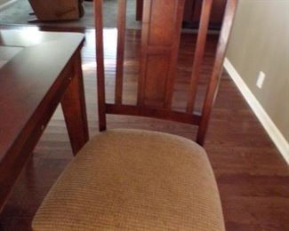closeup of dining room chairs