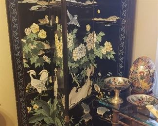 Asian room divider screen, decor