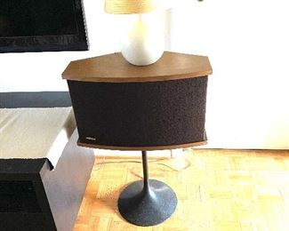 """Pair of Bose 901 Series VI speakers on tulip stands. Equalizer included. 30.75""""H Price: $875"""