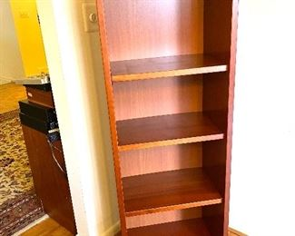 "MCM wood book shelf Dimensions: 58""H/21.25""W/14""D Price: $150"