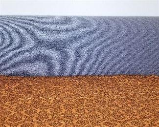 Modern gray king bed.