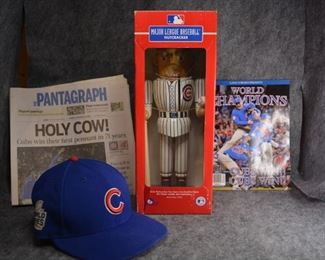 Lots of Cubs items, including World Series