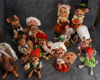 Annalee dolls - various sizes and types
