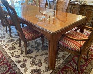 """Heritage dining table 64""""-104"""" (2 leaves are 20"""" each). 39"""" wide"""