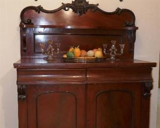 Gorgeous Antique Sideboard w/ High Relief Carving