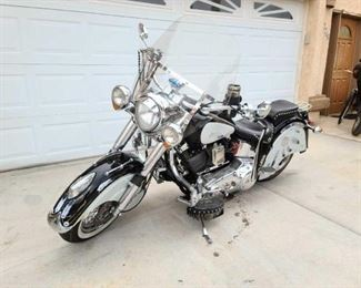 1999 Indian Cheif Motorcycle sells at auction April 11th call for more information VIN: 4XG000122 Plate: MC1LNE Motor No: 58351XC104 Mileage: 14987
