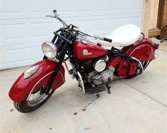 1946 Vintage Indian Motorcycle sells April 11th call for more information 844-824-3669.0 VIN: CDF4255B Plate: GKMC6F Mileage: 90,002 Motor number: CDF1661 Doc Fee: $70  bid on fast and last . com