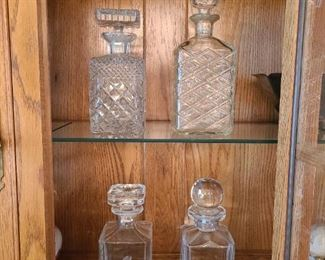 Each one of these decanters are beautiful; leaded crystal