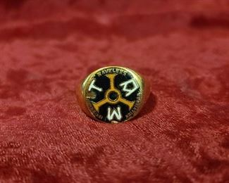 Mississippi Travelers Association Ring ; 'M-T-A....all followed in smaller letters stating above