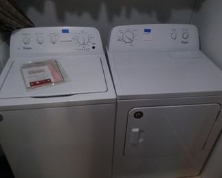 Like new Whirlpool washer &  electric dryer.