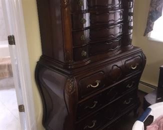great tall bombe style dresser  part of the set
