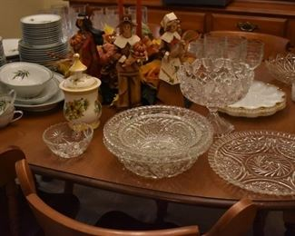 Beautiful Glassware and China adorn the table top