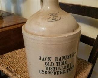 "Extremely Rare  2 Gallon Jack Daniels #2 Old Time Distillery Lynchburg, Tennessee Whiskey Jug! Made Circa 1870 - 1875, 12 3/4"" H. - Very few made nearly all were one gallon jugs -  The Jack Daniels Distillery was registered as a Distillery in 1866 and is the oldest registered Distillery in the United States."