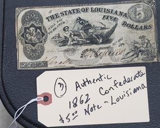 confederate note Louisiana