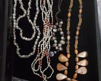 freshwater pearls, czech beads