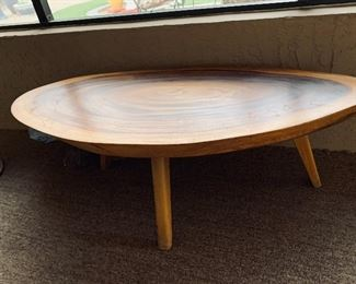 Beautiful Asian Wood Mid Century Coffee Table $375