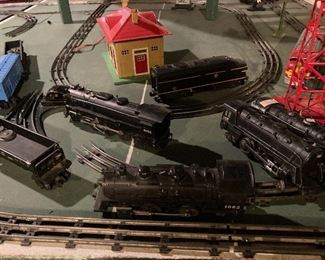 Lionel trains collection and set up