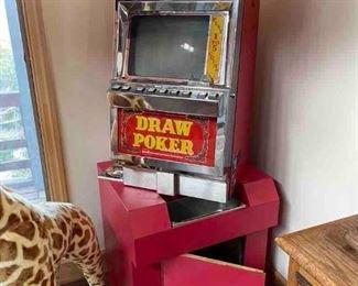 1981 IGT Draw Poker Machine, Fortune I, serial #145505, Model #701