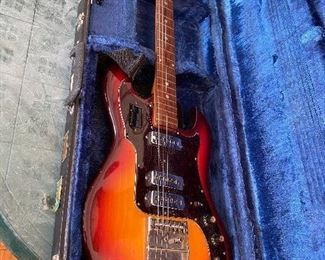 Vintage 1960's Conrad Guitar, Sunburst, In Cool Case!